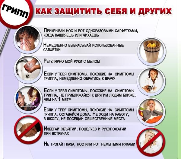 памятка профилактика гриппа